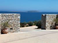 Villa Eurydice in Antiparos Greece, entrance, by Olive Villa Rentals