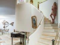 Villa Miltiades in Athens Greece, stairway, by Olive Villa Rentals
