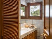 Villa Miltiades in Athens Greece, bathroom, by Olive Villa Rentals