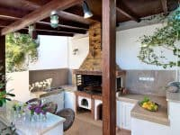 Villa Themis in Athens Greece, fireplace, by Olive Villa Rentals