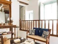 Villa Violet in Hydra Greece, living room 4, by Olive Villa Rentals