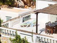 Villa Violet in Hydra Greece, balcony, by Olive Villa Rentals
