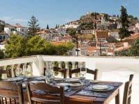 Villa Violet in Hydra Greece, balcony 2, by Olive Villa Rentals