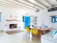 Villa Oliva in Koufonisia Greece, living room, by Olive Villa Rentals