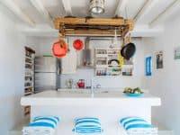 Villa Oliva in Koufonisia Greece, kitchen, by Olive Villa Rentals