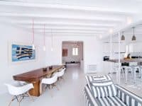 Villa Ariadne in Mykonos Greece, living room 2, by Olive Villa Rentals