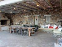Villa Joy in Mykonos Greece, outside, by Olive Villa Rentals