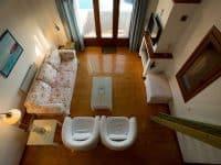 Villa Achilles in Pelion Greece, living room, by Olive Villa Rentals
