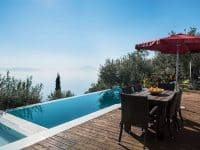 Villa Jason in Pelion Greece, pool, by Olive Villa Rentals