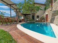 Milies House in Pelion Greece, pool, by Olive Villa Rentals