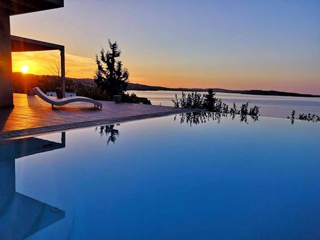 Villa Diamante in Porto Heli Greece, pool, by Olive Villa Rentals