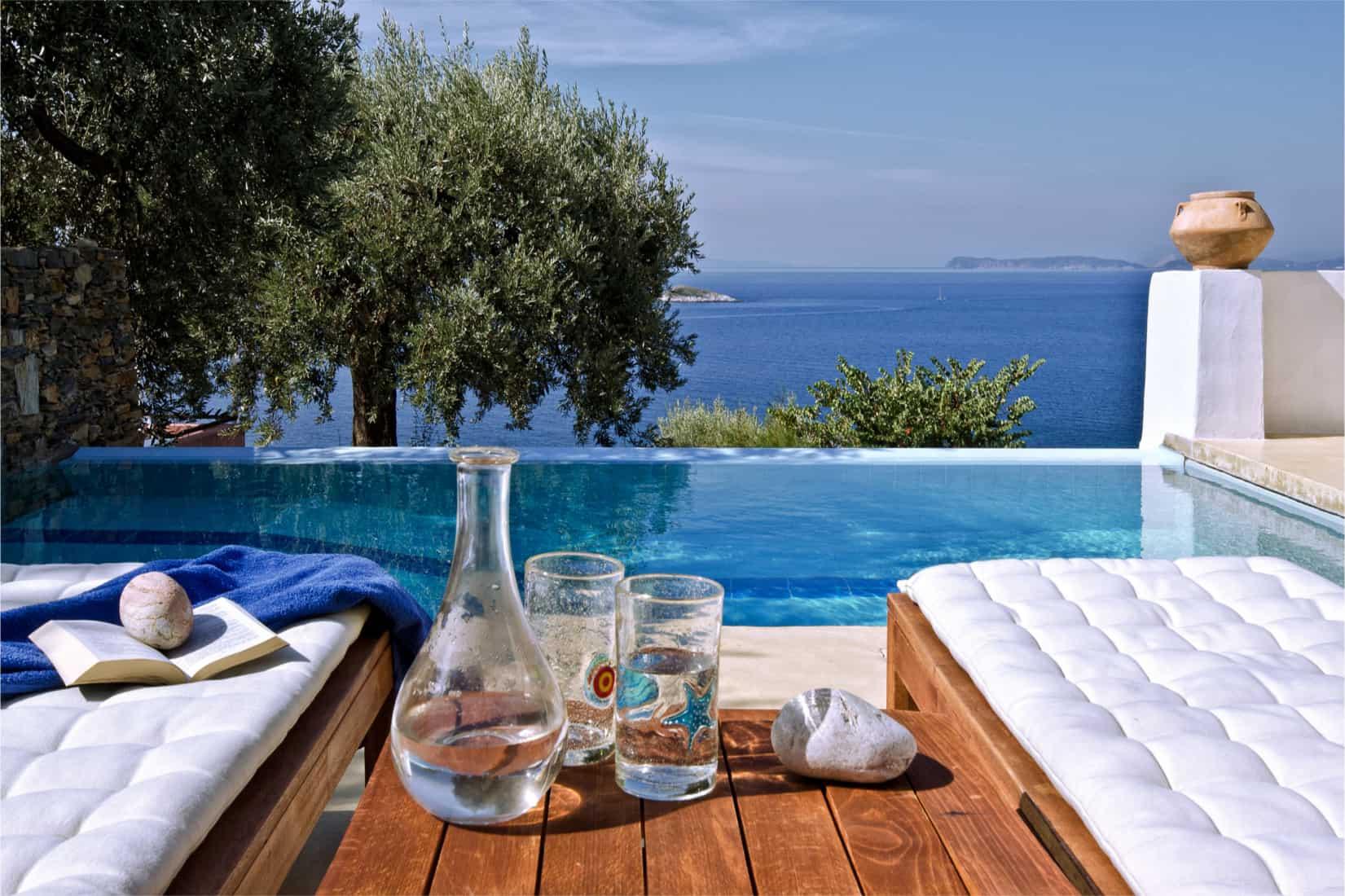 Villa Selena in Skopelos, Greece by Olive Villa Rentals, pool view