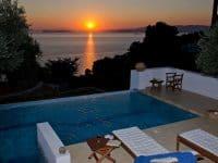 Villa Cybele in Skopelos Greece, sunset 2, by Olive Villa Rentals