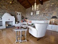 Villa Cybele in Skopelos Greece, living room 2, by Olive Villa Rentals