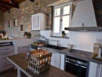 Villa Cybele in Skopelos Greece, kitchen, by Olive Villa Rentals