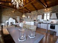 Villa Cybele in Skopelos Greece, dining table, by Olive Villa Rentals