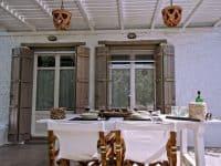 Pool Villa Selene in Skopelos Greece, dining table 4, by Olive Villa Rentals