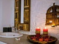 Pool Villa Selene in Skopelos Greece, bathroom, by Olive Villa Rentals