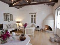 Pool Villa Selene in Skopelos Greece, living room 7, by Olive Villa Rentals