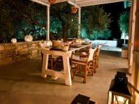 Pool Villa Selene in Skopelos Greece, dining table 6, by Olive Villa Rentals