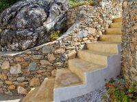 Pool Villa Selene in Skopelos Greece, stairway, by Olive Villa Rentals