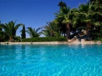 Villa Camelia in Spetses Greece, pool view, by Olive Villa Rentals