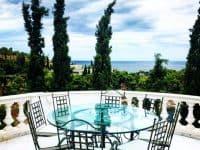 Villa Camelia in Spetses Greece, balcony, by Olive Villa Rentals