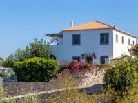 Villa Corinna in Spetses Greece, facade, by Olive Villa Rentals