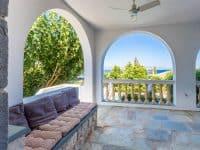 Villa Corinna in Spetses Greece, terrace, by Olive Villa Rentals