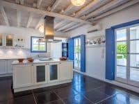 Villa Kastalia in Spetses Greece, kitchen, by Olive Villa Rentals