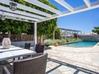 Villa Kastalia in Spetses Greece, pool view, by Olive Villa Rentals