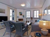 Villa Matilda in Spetses Greece, living room 2, by Olive Villa Rentals