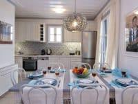 Villa Matilda in Spetses Greece, dining room, by Olive Villa Rentals