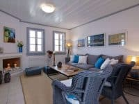 Villa Matilda in Spetses Greece, living room 3, by Olive Villa Rentals