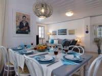 Villa Matilda in Spetses Greece, dining room 2, by Olive Villa Rentals