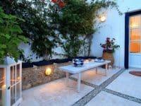 Villa Matilda in Spetses Greece, table, by Olive Villa Rentals