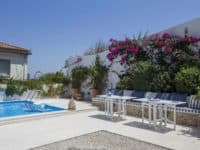 Villa Spezie in Spetses Greece, pool, by Olive Villa Rentals