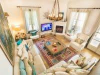 Villa Veneta in Spetses Greece, living room, by Olive Villa Rentals