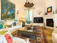 Villa Veneta in Spetses Greece, living room 2, by Olive Villa Rentals