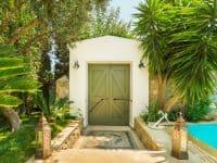 Villa Veneta in Spetses Greece, entrance, by Olive Villa Rentals