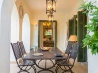 Villa Veneta in Spetses Greece, table, by Olive Villa Rentals