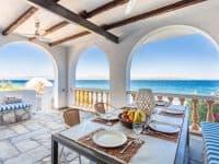 Villa Zenais in Spetses Greece, terrace, by Olive Villa Rentals
