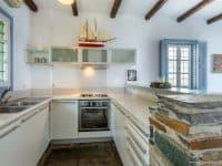 Villa Zenais in Spetses Greece, kitchen, by Olive Villa Rentals