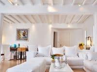 Villa Leticia in Mykonos Greece, living room 3, by Olive Villa Rentals