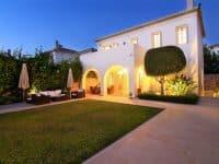 Villa- Marina -Spetses-by-Olive-Villa-Rentals-pool-area-night