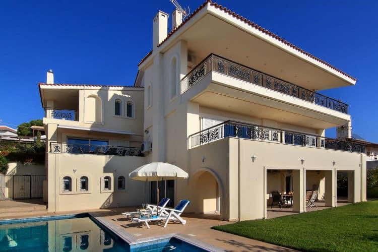Villa-Olive Athens Riviera-Villas-athens-olivevillarentals-pool