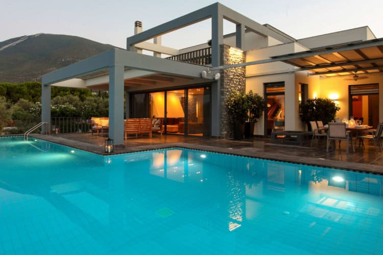 Villa-Copper-Evia-by-Olive-Villa-Rentals-pool-view