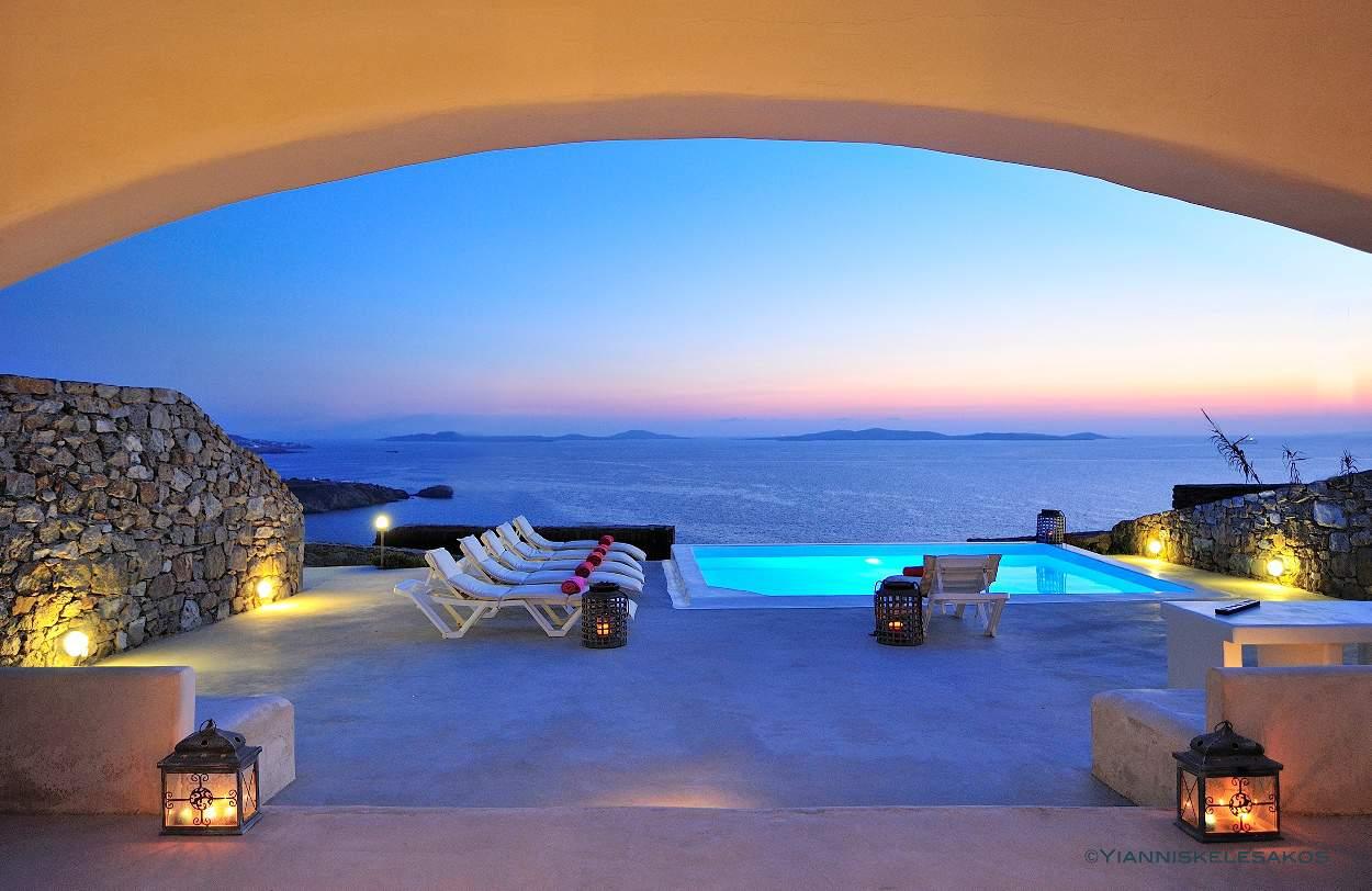 Villa Blu in Mykonos Greece, by Olive Villa Rentals