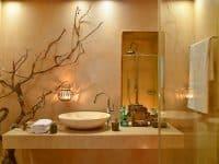 Villa Azzuro in Aegina Greece, bathroom, by Olive Villa Rentals