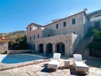 Villa Begonia in Hydra Greece, facade, by Olive Villa Rentals